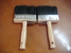 wooden handle and pure black bristle cleaning wall brush