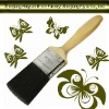 wooden handle paint brush no.0825