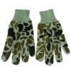 working knitted garden camouflage glove