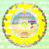 250mm yellow Deep Tooth Segmented Diamond Blade for Green Concrete and Asphalt--COBA
